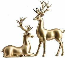 YB&GQ 2pcs Renna di Natale Statua