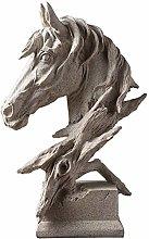 YB&GQ Astratta Testa di Cavallo Statua