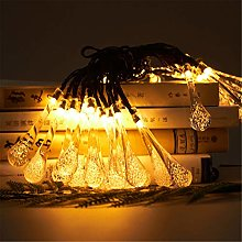YCDZ - Filo di luce solare con gocce d'acqua,