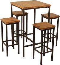 Yelloo - Set Tavolo Bar Quadrato Alto 110 cm e 4