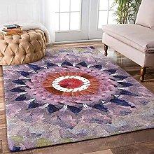 YHML - Tappeto mandala grande, 1,5 x 2,4 m