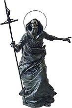 YHNMK Halloween Black Skeleton Guardian Scultura,