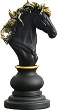 YHNMK Statua del re Regina degli Scacchi,