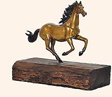 YHNMK Statua in Rame Puro, Ornamenti per Cavalli