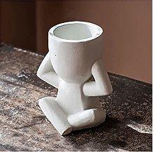 YHshop Vasi di Fiori Bianco Cattivo può Flowerpot