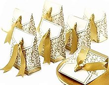 Yinitoo 50 Oro scatolina bomboniera Scatola