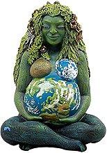 Yizc Madre Terra Dea Statue,Resina Millenaria Gaia