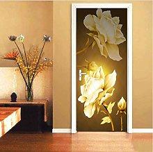 YMXRZDM adesivi per porte interne 3d fiori bianchi