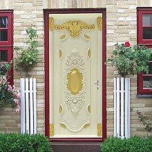 YMXRZDM Carta Parati Porta Porta in stile europeo
