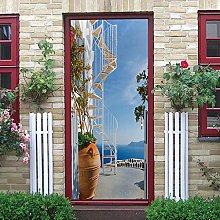 YMXRZDM Porta murale PVC architettura Adesivo per