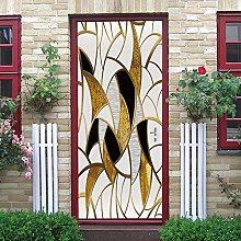 YMXRZDM Porta murale PVC arte Moderna Adesivo per