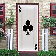 YMXRZDM Porta murale PVC carta Adesivo per porte