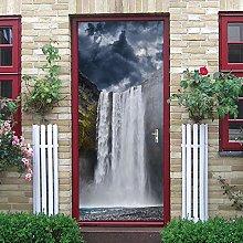 YMXRZDM Porta murale PVC Cascata del paesaggio