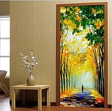 YMXRZDM Porta murale PVC Legni dipinti ad olio