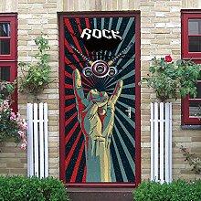 YMXRZDM Porta murale PVC musica Adesivo per porte