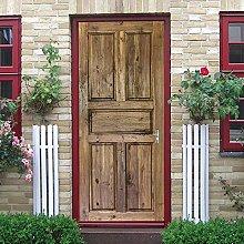 YMXRZDM Porta murale PVC Porta di legno Adesivo