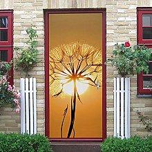 YMXRZDM Porta murale PVC Tarassaco all'alba