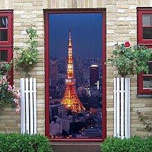 YMXRZDM Porta murale PVC Torre di costruzione