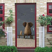 YMXRZDM Porta murale PVC Vista posteriore
