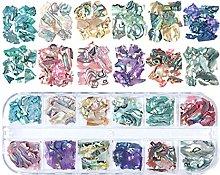 YO-HAPPY 12 Colori Colorati Irregolari Abalone