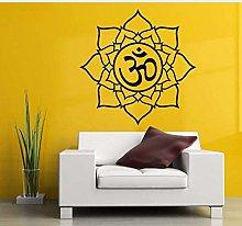 Yoga Om Meditazione Decalcomanie Adesivo Murale