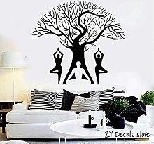 Yoga Pose Adesivo Murale Albero Di Fiori