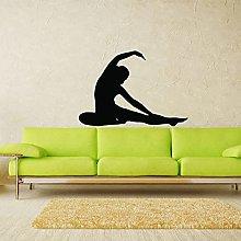 Yoga Postura Ragazza Adesivo Da Parete In Vinile