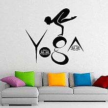 Yoga Sport Lotus Adesivo Murale Home Interior