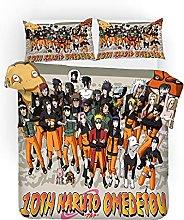 YOMOCO Naruto, set di biancheria da letto con