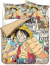 YOMOCO One Piece - Set di biancheria da letto con
