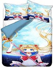 YOMOCO Sailor Moon - Set di biancheria da letto