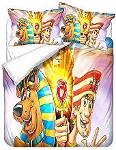 YOMOCO Scooby-DOO - Set di biancheria da letto con