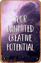 You Unlimited Creative Potential Tin 20X30 CM