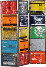 YOUTHUP Paravento Multicolore 45x17x167 cm Ferro -