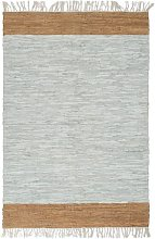 YOUTHUP Tappeto Chindi Artigianale Pelle 80x160cm