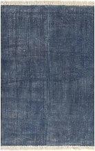 YOUTHUP Tappeto Kilim in Cotone 120x180 cm Blu -