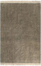 YOUTHUP Tappeto Kilim in Cotone 200x290 cm Grigio