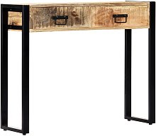 YOUTHUP Tavolo Consolle 90x30x75 cm in Legno