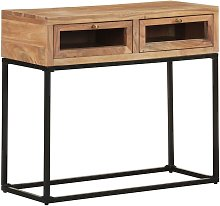 YOUTHUP Tavolo Consolle 90x35x76 cm in Legno