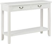 YOUTHUP Tavolo Consolle Bianco 110x35x80 cm in