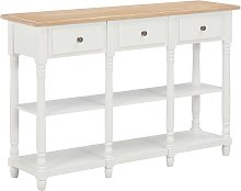 YOUTHUP Tavolo Consolle Bianco 120x30x76 cm in MDF