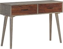 YOUTHUP Tavolo Consolle Grigio 110x35x75 cm in