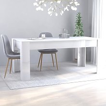 YOUTHUP Tavolo da Pranzo Bianco Lucido 180x90x76