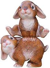 YQLKD Figurine Decorsimulazione Animale Resina