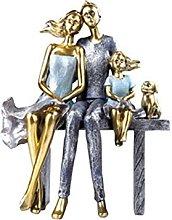 YQLKD Ornamenti Statuahappy Figure Coppia Statua