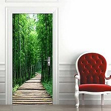 YQLKD Porte Interne Poster Bamboo Forest Small