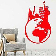 yuandp Agenzia di Viaggio Adesivo murale Mondo dei