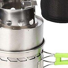 YukeShop Mini Mult Fuel Campeggio Stufa Antivento