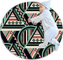 Yumansis - Tappeto circolare circolare per cucina,