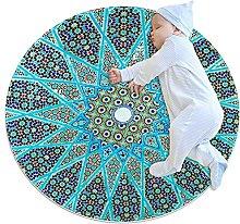 Yumansis Tappeto circolare lavabile tappeto
